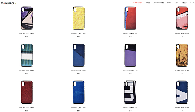 rareform iphone cases